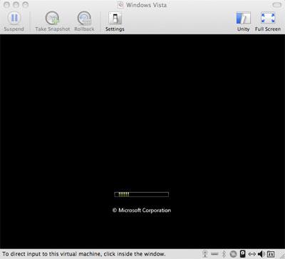 VMWare Fusion, Windows Vista and the Black Screen of Death