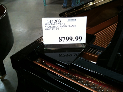yamaha pianos at costco 2009 pricing
